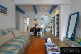 地中海风格一居室装修设计图片欣赏