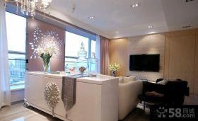家庭装修小客厅电视背景墙设计图片