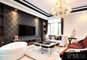 欧式风格装修客厅电视背景墙图片