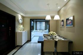 现代简约风格三室两厅客厅电视背景墙装修效果图