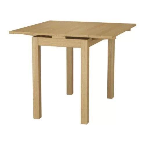 宜家比约斯伸缩型餐桌, 橡木贴面
