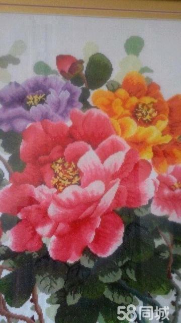 【图】带框十字绣花开富贵