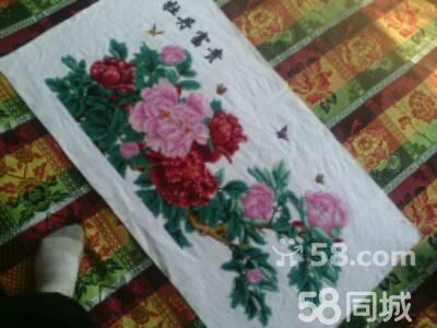 玫瑰刺绣 牡丹刺绣图片大全图片