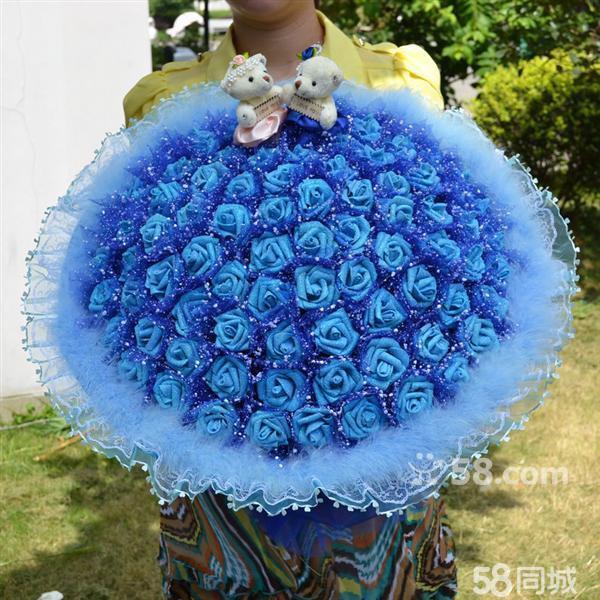 朵天蓝色创意花束
