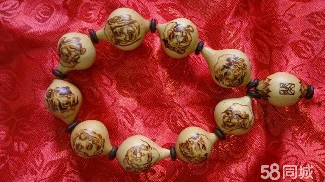 葫芦手串烙画十八罗汉