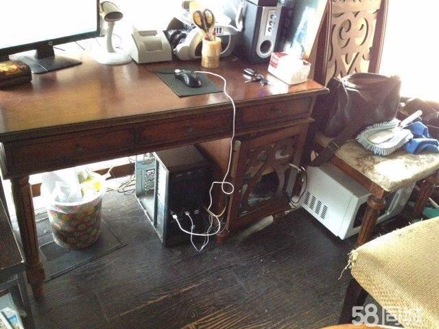 【图】简欧式办公写字台书桌电脑桌(含椅子)