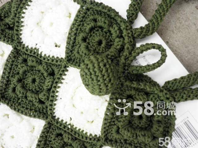 毛线编织女士包包新款上市低价销售-手工钩针编织包包 手工钩针编织