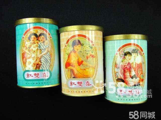 图】香港南洋兄弟罐装珍藏版红双喜美女图烟标 ...
