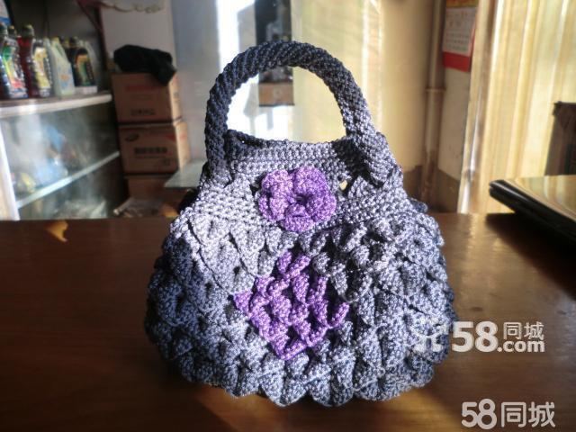 转让 纯手工编织好看包包 毛线坐垫 地毯-编织手提包 编织包包 手工编