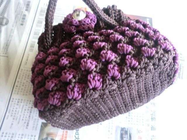 用旧毛线手工钩针编织 心形 地毯图解教程