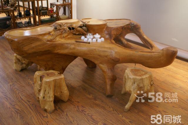 纯天然荔枝木根雕椅