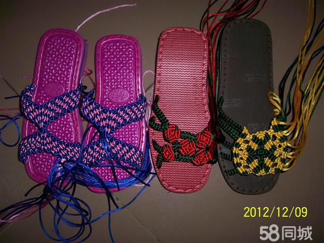 庆阳手工编织凉拖鞋夏季拖鞋男式夏季拖鞋图片