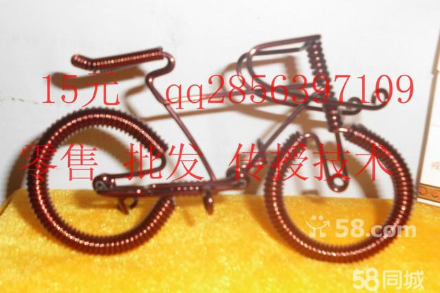 纯手工铜丝线编织的摩托车