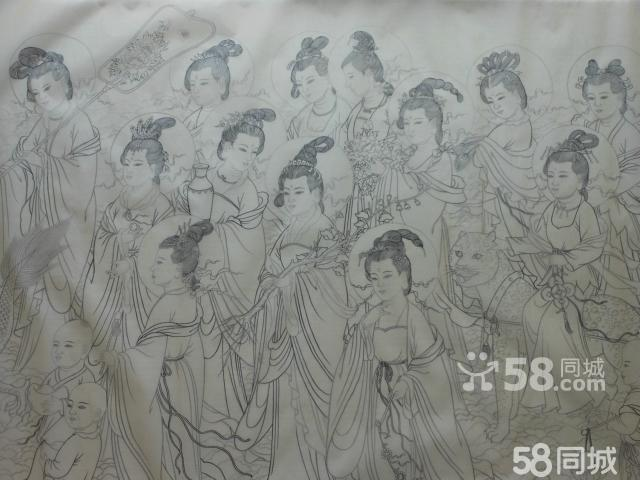 【图】4尺工笔画《观音菩萨图》