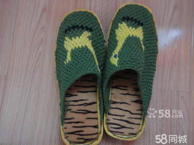 【图】纯手工编织毛线拖鞋