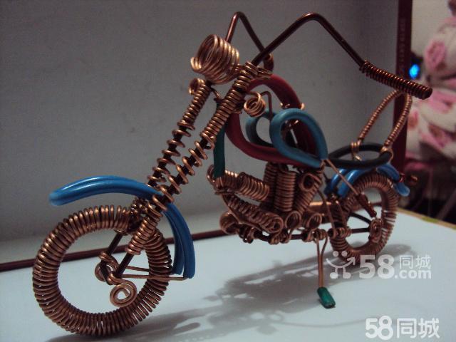 铜丝摩托车制作教程; 用铜线做工艺品;