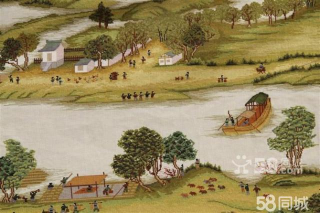 【图】蒙娜丽莎皇室十字绣成品清明上河图4
