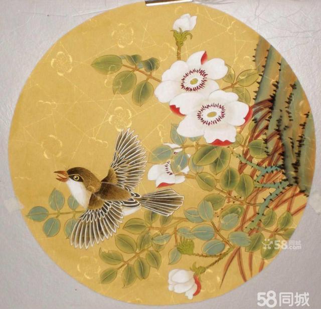 【图】团扇工笔画-工笔花鸟2
