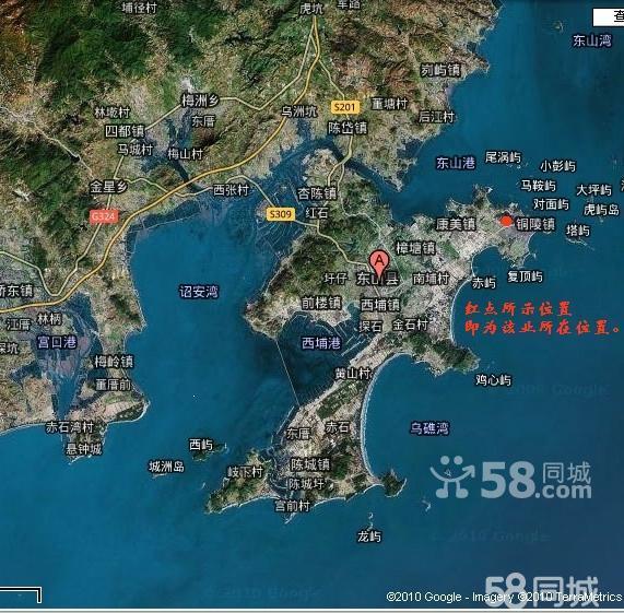 福建漳州东山县地图