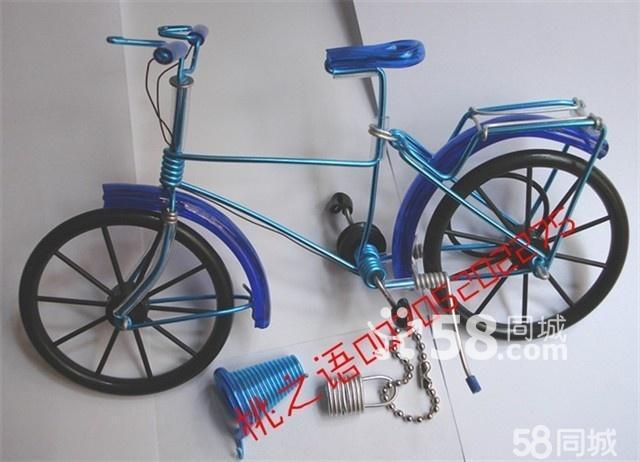 创意工艺品 手工制作视频 手工自行车图片