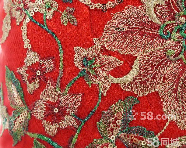 【图】大红色凤凰刺绣旗袍 - 香坊进乡街服装/鞋帽