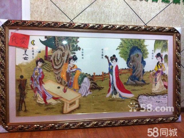 纯手工中国四大美女十字绣成品