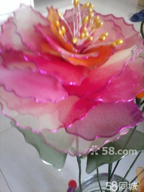 纯手工制作丝网花 玫瑰 鲤鱼 孔雀 各种花卉-玫瑰丝网花做法 丝网花玫图片
