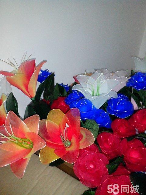 【图】漂亮的丝网花玫瑰(自己做的)
