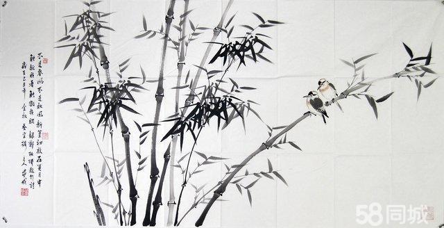 美协 范家成老师 四尺整张 花鸟竹子画 写意画 保真收藏