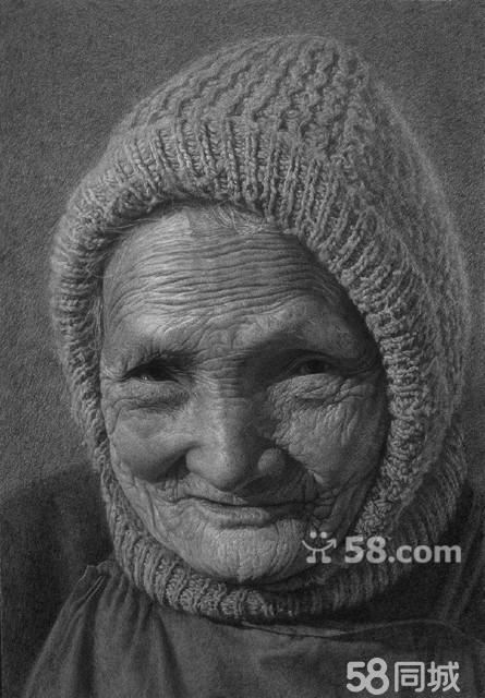 超写实素描肖像画