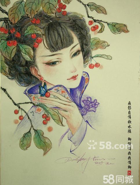 彩铅人物_【图】手绘彩铅人物画 - 东兴东兴艺术品/收藏品 - 内江58同城