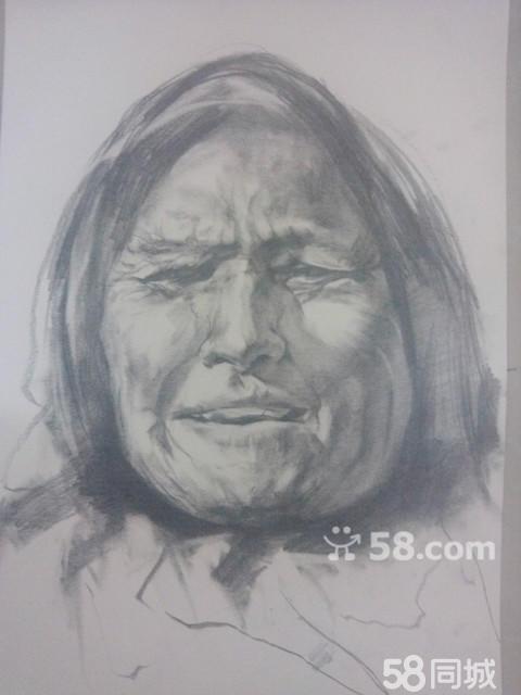 【图】纯手绘代画定制素描头像