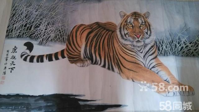 动物木雕工艺品版画