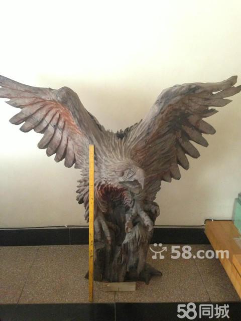 【图】乌木雕刻(雄鹰展翅)