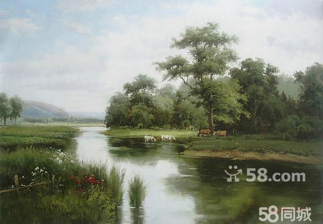 【图】纯手绘原创写实风景人物油画
