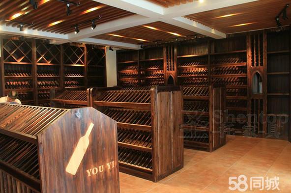 圣托共好酒柜 展示酒架 实木酒架 橡木柜 葡萄酒 酒窖 专业测量设计