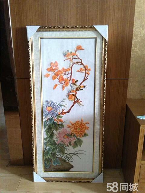 【图】新梅兰竹菊十字绣已装裱好出售