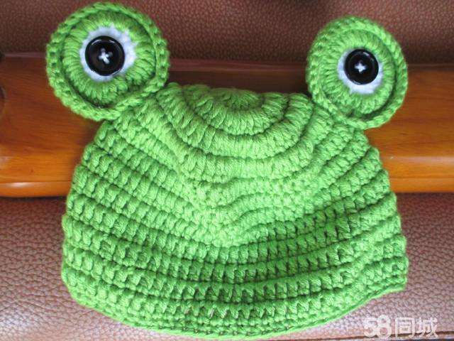 宝宝拍照可爱小青蛙写真造型帽