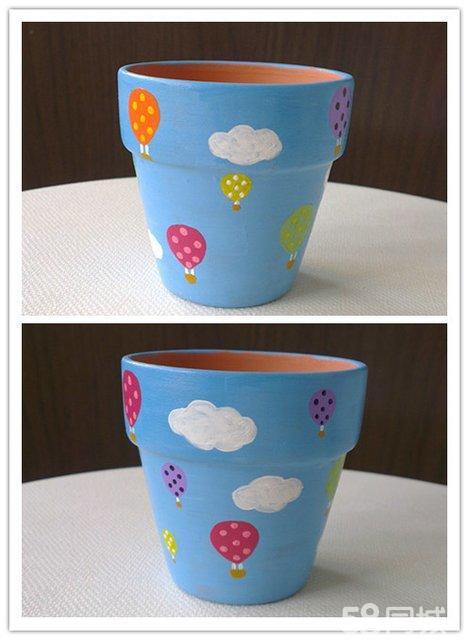 【图】纯手绘小花盆
