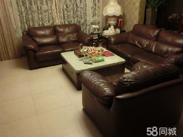 【图】全皮品牌沙发及茶几整套便宜出售