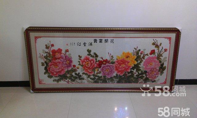 《花开富贵,满堂红》十字绣