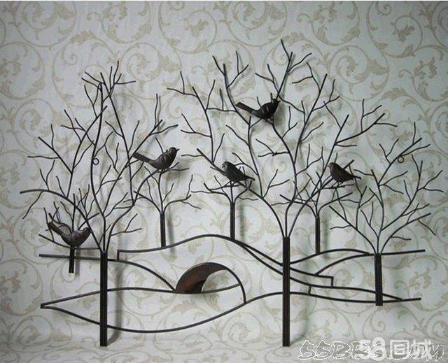 幼儿园树枝装饰墙