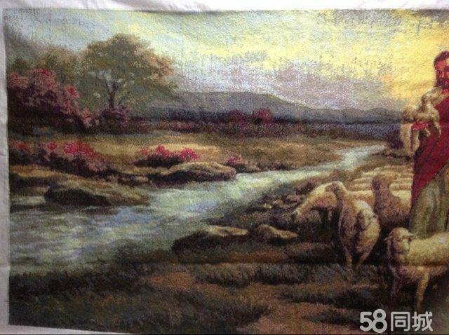 【图】满绣十字绣-耶稣与牧羊拼图纸鱼豆图片