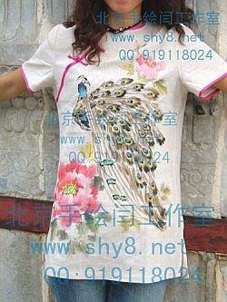 承接:手绘服装.手绘文化衫加工:纯棉.真丝.棉麻,帆布等面料