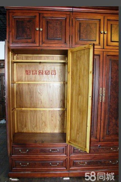 【图】欧式实木时尚白色衣柜 - 朝阳百子湾二手家具
