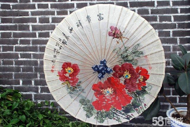 92cm满穿手工纯手绘秦风汉月油纸伞