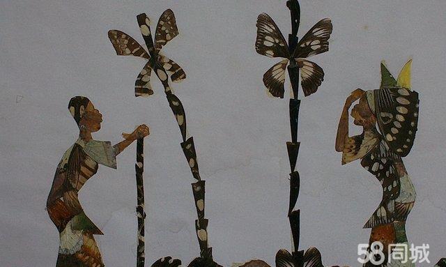 非洲蝴蝶翅膀粘贴画