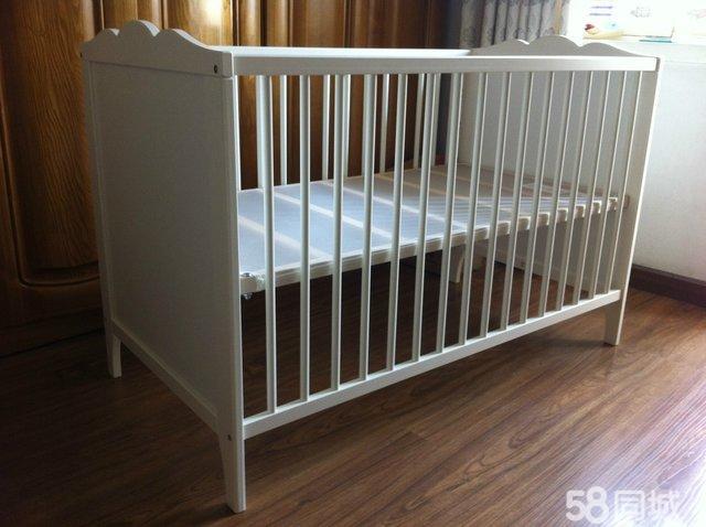 【图】转让宜家白色婴儿床