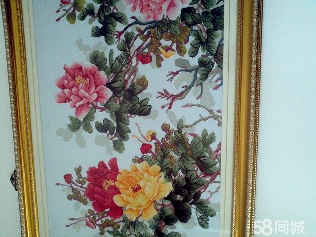 【图】卖花开富贵精品十字绣