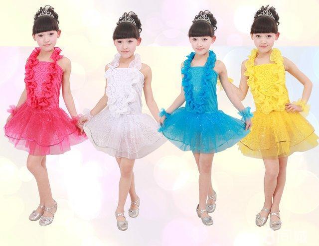 【图】全新2014时尚女童舞蹈演出服六一儿童